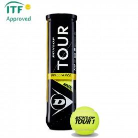Tube 4 balles Dunlop Tour Brilliance - Dunlop 601327